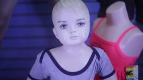 Mannequin von Little Boy stock video footage