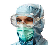Mannequin w medycznej masce i kostiumu Fotografia Royalty Free
