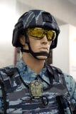 Mannequin w wyposażeniu jednostki specjalne dowodzi przy wystawą mundury fotografia royalty free
