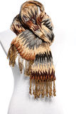 Mannequin in a warm winter scarf Royalty Free Stock Images