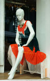 Mannequin wear stylish clothes in shopwindow Stock Images