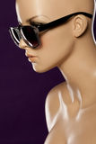 Mannequin wearing fashion sunglasses Stock Photography