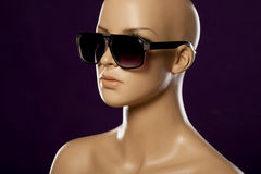 Mannequin wearing fashion sunglasses Royalty Free Stock Image
