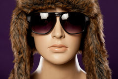 Mannequin wearing fashion sunglasses Stock Image