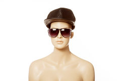 Mannequin wearing fashion sunglasses Stock Images