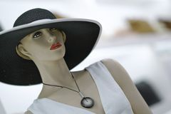 mannequin is wearing a hat royalty free stock images