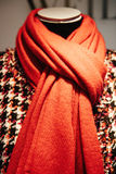 Mannequin wearing red scarf Royalty Free Stock Photography