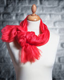 Mannequin wearing shawl Royalty Free Stock Photos