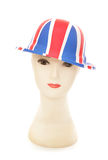 Mannequin wearing a union jack bowler party hat Stock Photo