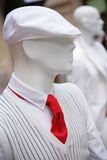 Mannequin in white cap Royalty Free Stock Photography