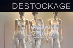 Mannequin winter fashion in a showroom Royalty Free Stock Images