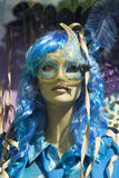 Mannequin woman in blue halloween costume Stock Images