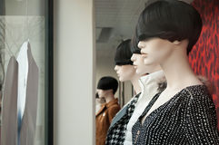 Mannequin in a women fashion store Stock Photo