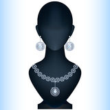 Mannequin with womens jewelery. Stock Image