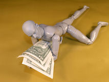Mannequin Wrestling With Money Stock Photography
