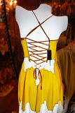 Mannequin with yellow underwear Royalty Free Stock Photography