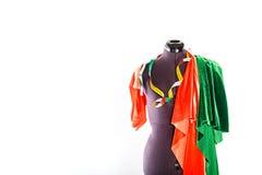 Mannequin z tkaniną i faborkiem Obraz Stock
