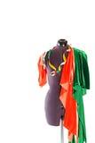 Mannequin z tkaniną i faborkiem Obraz Royalty Free