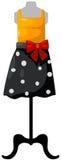 Mannequin z wierzchołkiem i spódnicą ilustracja wektor