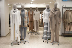 Mannequines in fashion boutique Royalty Free Stock Image