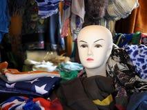 Mannequinkopf auf einem Stand Stockfoto