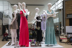 Mannequinne in the mall Royalty Free Stock Photo