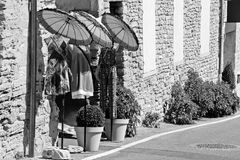Mannequinne su una via fotografia stock