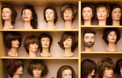 Mannequins. Closeup of the head of a mannequin in a clothes store Royalty Free Stock Images