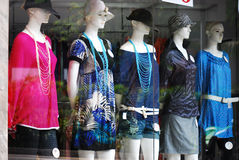 Mannequins. A photo taken on some mannequins displaying ladies fashion wear Royalty Free Stock Images