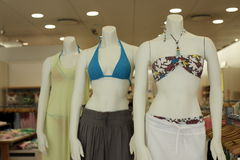 Mannequins in bikinis Stock Photo
