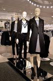 Mannequins in black and white clothing. Royalty Free Stock Image