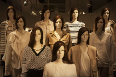 Mannequins brunette girls with new spring  collection Royalty Free Stock Image