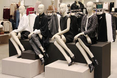 Mannequins in a clothing store Royalty Free Stock Photo
