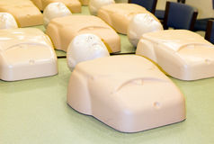 Mannequins in cpr training class cardiopulmonary resuscitation Royalty Free Stock Image