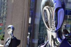 Mannequins d'argento Immagine Stock Libera da Diritti