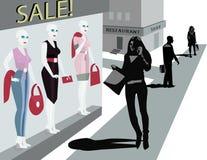 Mannequins dans la mémoire de vêtements Photographie stock