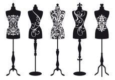 Mannequins de mode, positionnement de vecteur Photos stock