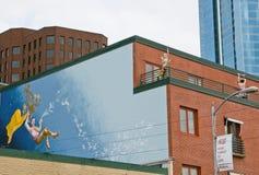 Mannequins de peinture murale et d'amusement à Seattle images libres de droits