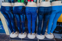 Mannequins Denim Butts Shop  Stock Photos