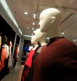 Mannequins on display in the shop with new fashion in shopping g Stock Images