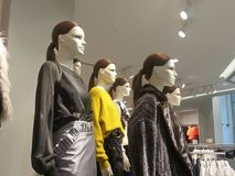 Mannequins on display in the shopping mall Stock Photography