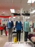 Mannequins displaying clothes Stock Images