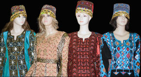 Mannequins displaying traditional Turkish costumes Royalty Free Stock Images