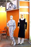 Mannequins dressed in chemical laboratory workers Stock Photography