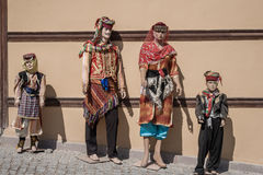 Mannequins Dressed in Colorful Oriental Traditional Turkish Clot Royalty Free Stock Photography