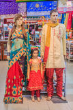 Mannequins dressed in indian clothing Stock Image