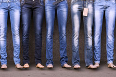 Mannequins dressed in jeans Stock Photo