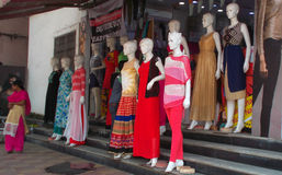 Mannequins dressed in latest Indian fashion dress Stock Images