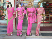 Mannequins dressed in latest Indian fashion dress for women Stock Image