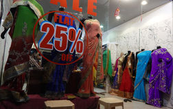 Mannequins dressed in latest Indian fashion dress for women Stock Photo